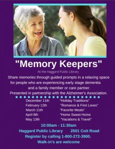 Plano - Memory Keepers @ Haggard Public Library   Plano   Texas   United States